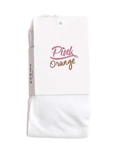 Pink&Orange Külotlu Çorap Beyaz